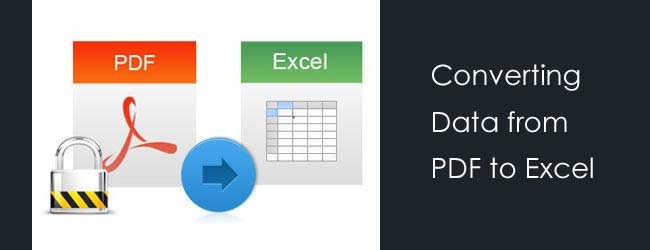 PDF to Excel Data Conversion